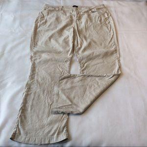 NYDJ Linen Pants 20W 2x Ivory Boot Wylie Trouser
